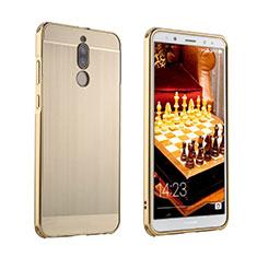 Handyhülle Hülle Luxus Aluminium Metall Tasche für Huawei Mate 10 Lite Gold