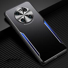 Handyhülle Hülle Luxus Aluminium Metall Tasche für Huawei Mate 40 Blau