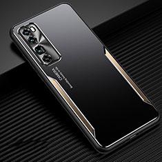 Handyhülle Hülle Luxus Aluminium Metall Tasche für Huawei Nova 7 Pro 5G Gold