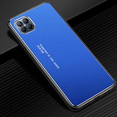 Handyhülle Hülle Luxus Aluminium Metall Tasche für Huawei Nova 8 SE 5G Blau