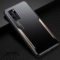 Handyhülle Hülle Luxus Aluminium Metall Tasche für Huawei P40 Gold