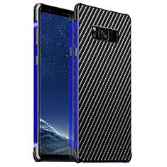 Handyhülle Hülle Luxus Aluminium Metall Tasche für Samsung Galaxy S8 Plus Blau