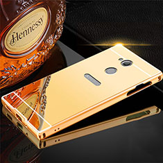 Handyhülle Hülle Luxus Aluminium Metall Tasche für Sony Xperia L2 Gold