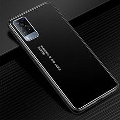 Handyhülle Hülle Luxus Aluminium Metall Tasche für Vivo X60 5G Schwarz