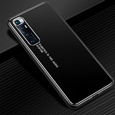 Handyhülle Hülle Luxus Aluminium Metall Tasche für Xiaomi Mi 10 Ultra Schwarz