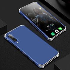 Handyhülle Hülle Luxus Aluminium Metall Tasche für Xiaomi Mi A3 Lite Blau