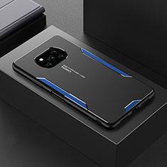 Handyhülle Hülle Luxus Aluminium Metall Tasche für Xiaomi Poco X3 NFC Blau