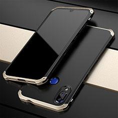 Handyhülle Hülle Luxus Aluminium Metall Tasche für Xiaomi Redmi Note 7 Gold und Schwarz