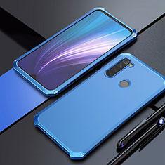 Handyhülle Hülle Luxus Aluminium Metall Tasche für Xiaomi Redmi Note 8 Blau