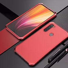 Handyhülle Hülle Luxus Aluminium Metall Tasche für Xiaomi Redmi Note 8 Rot