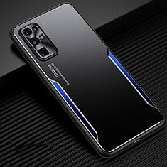 Handyhülle Hülle Luxus Aluminium Metall Tasche M01 für Huawei Honor 30 Blau
