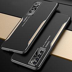 Handyhülle Hülle Luxus Aluminium Metall Tasche M01 für Huawei Nova 7 5G Gold