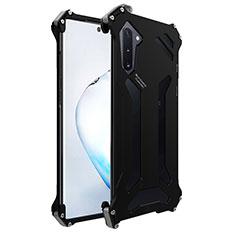 Handyhülle Hülle Luxus Aluminium Metall Tasche M01 für Samsung Galaxy Note 10 5G Schwarz