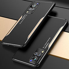 Handyhülle Hülle Luxus Aluminium Metall Tasche M01 für Vivo X60 5G Gold