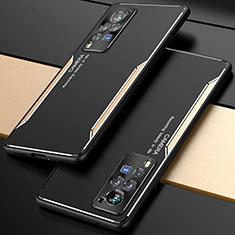 Handyhülle Hülle Luxus Aluminium Metall Tasche M01 für Vivo X60 Pro 5G Gold