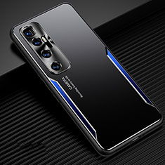 Handyhülle Hülle Luxus Aluminium Metall Tasche M01 für Xiaomi Mi 10 Ultra Blau
