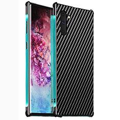 Handyhülle Hülle Luxus Aluminium Metall Tasche M02 für Samsung Galaxy Note 10 5G Grün