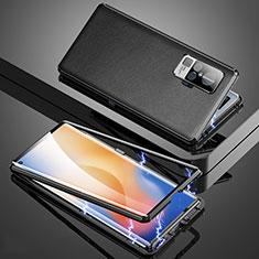Handyhülle Hülle Luxus Aluminium Metall Tasche M04 für Vivo X51 5G Schwarz