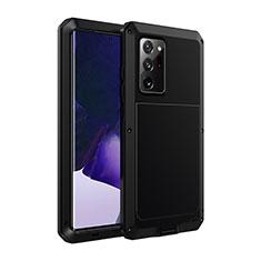 Handyhülle Hülle Luxus Aluminium Metall Tasche N01 für Samsung Galaxy Note 20 Ultra 5G Schwarz