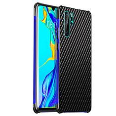 Handyhülle Hülle Luxus Aluminium Metall Tasche S01 für Huawei P30 Pro Blau