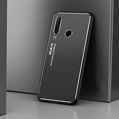Handyhülle Hülle Luxus Aluminium Metall Tasche T01 für Huawei Honor 20 Lite Schwarz
