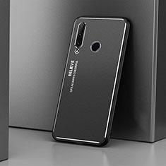 Handyhülle Hülle Luxus Aluminium Metall Tasche T01 für Huawei Honor 20i Schwarz