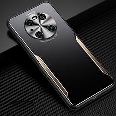 Handyhülle Hülle Luxus Aluminium Metall Tasche T02 für Huawei Mate 40 Pro Gold