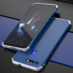 Handyhülle Hülle Luxus Aluminium Metall Tasche T03 für Huawei Honor V20 Blau