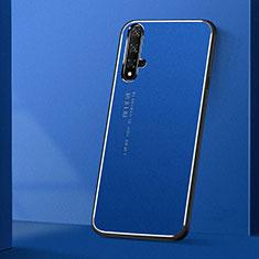 Handyhülle Hülle Luxus Aluminium Metall Tasche T04 für Huawei Nova 5T Blau