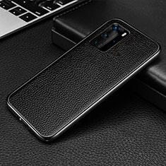 Handyhülle Hülle Luxus Aluminium Metall Tasche T04 für Huawei P40 Pro Schwarz