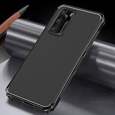 Handyhülle Hülle Luxus Aluminium Metall Tasche T04 für Huawei P40 Schwarz