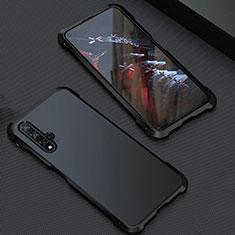 Handyhülle Hülle Luxus Aluminium Metall Tasche T05 für Huawei Honor 20 Schwarz