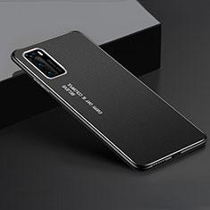 Handyhülle Hülle Luxus Aluminium Metall Tasche T05 für Huawei P40 Schwarz
