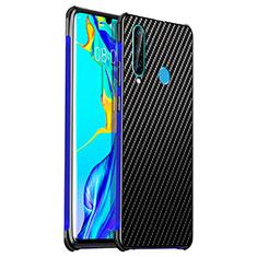 Handyhülle Hülle Luxus Aluminium Metall Tasche T06 für Huawei P30 Lite Blau