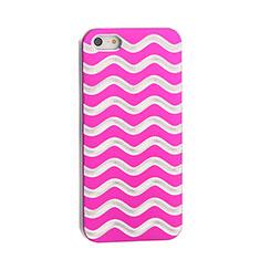 Handyhülle Hülle Luxus Aluminium Metall Wave für Apple iPhone 5 Pink