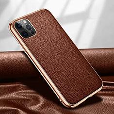 Handyhülle Hülle Luxus Leder Schutzhülle für Apple iPhone 12 Pro Braun