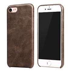 Handyhülle Hülle Luxus Leder Schutzhülle für Apple iPhone 7 Braun