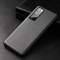 Handyhülle Hülle Luxus Leder Schutzhülle für Huawei Enjoy 20 Pro 5G Schwarz