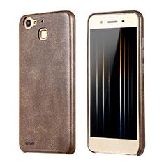 Handyhülle Hülle Luxus Leder Schutzhülle für Huawei Enjoy 5S Braun
