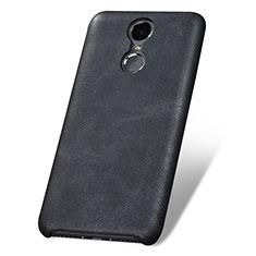 Handyhülle Hülle Luxus Leder Schutzhülle für Huawei Enjoy 6 Schwarz