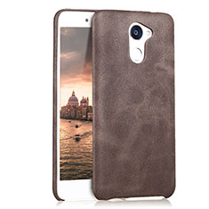 Handyhülle Hülle Luxus Leder Schutzhülle für Huawei Enjoy 7 Plus Braun