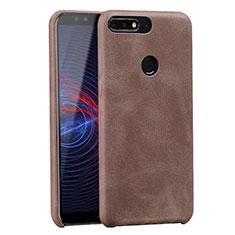 Handyhülle Hülle Luxus Leder Schutzhülle für Huawei Enjoy 8 Braun