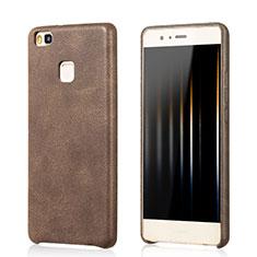 Handyhülle Hülle Luxus Leder Schutzhülle für Huawei G9 Lite Braun