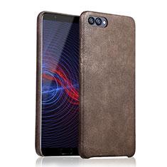 Handyhülle Hülle Luxus Leder Schutzhülle für Huawei Honor 10 Braun