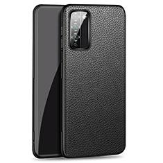 Handyhülle Hülle Luxus Leder Schutzhülle für Huawei Honor 30 Lite 5G Schwarz