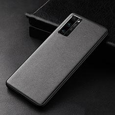 Handyhülle Hülle Luxus Leder Schutzhülle für Huawei Honor 30 Pro Schwarz
