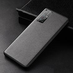 Handyhülle Hülle Luxus Leder Schutzhülle für Huawei Honor 30 Schwarz
