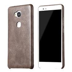 Handyhülle Hülle Luxus Leder Schutzhülle für Huawei Honor 5X Braun