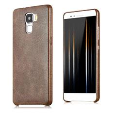 Handyhülle Hülle Luxus Leder Schutzhülle für Huawei Honor 7 Dual SIM Braun