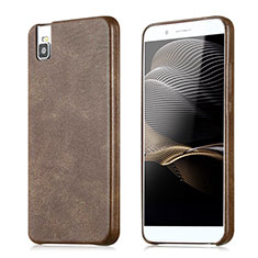 Handyhülle Hülle Luxus Leder Schutzhülle für Huawei Honor 7i shot X Braun